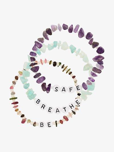 Multicoloured Be Breathe Safe Crystal Bracelet Set