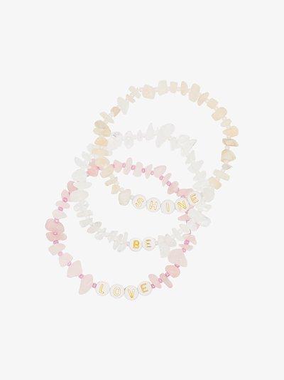 Multicoloured Love Be Shine crystal bracelet set