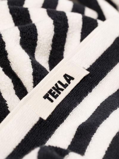 black and white organic cotton towel set