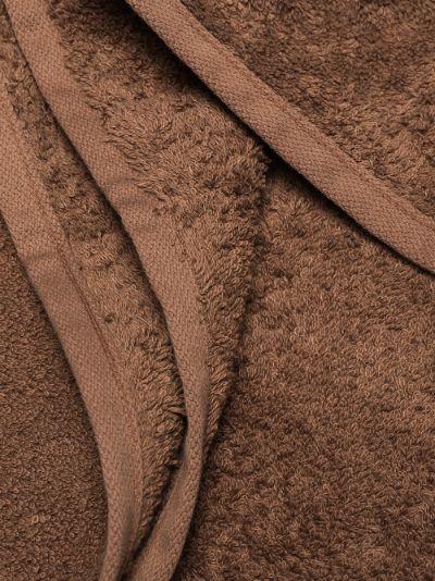 brown organic cotton towel set