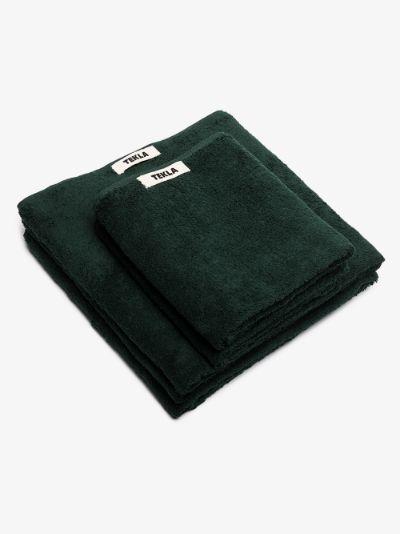 green organic cotton towel set