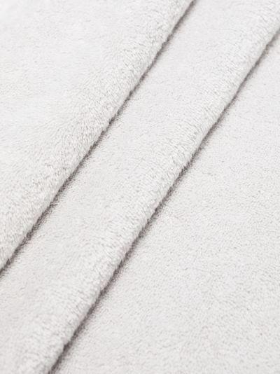 grey organic terry cotton towel set