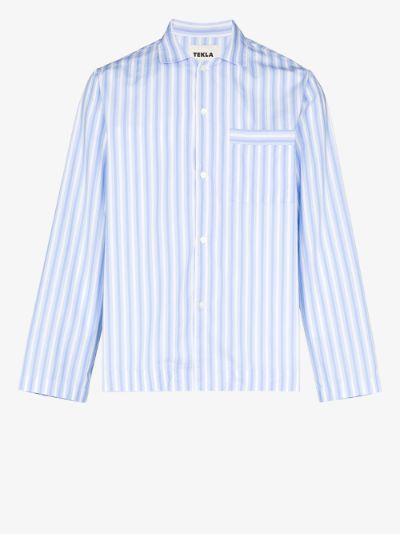 organic cotton stiped pyjama shirt