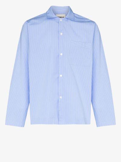 organic cotton striped pyjama shirt
