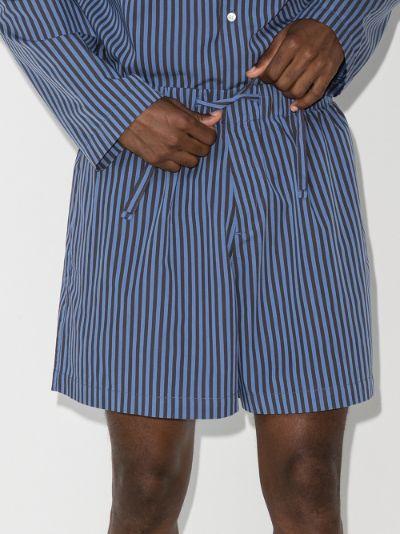 organic cotton striped pyjama shorts