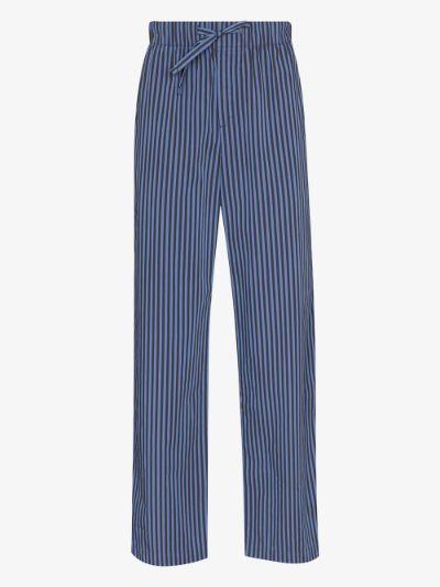 organic cotton striped pyjama trousers