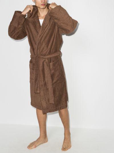 organic terry cotton bathrobe