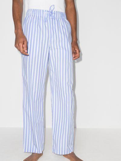 striped organic cotton pyjama trousers