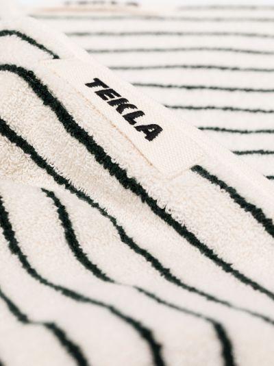 white and green organic Cotton Towel Set