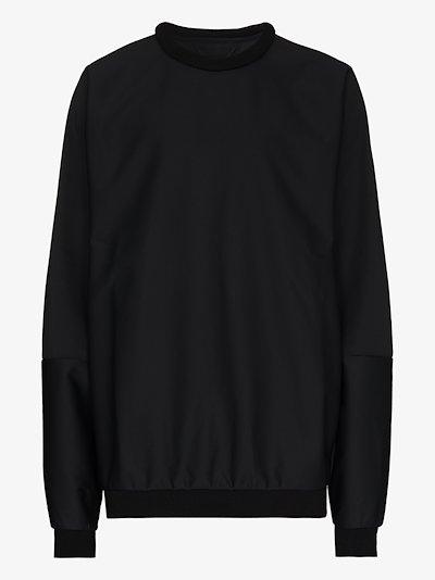 black oversized crew neck sweatshirt