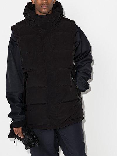 black padded puffer hooded gilet