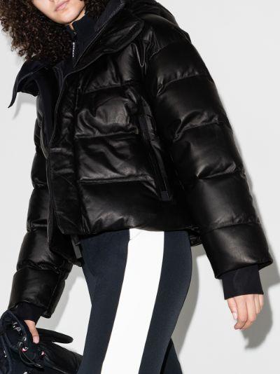 Naswa leather puffer jacket