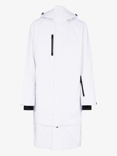 White 3L Kanta shell ski jacket