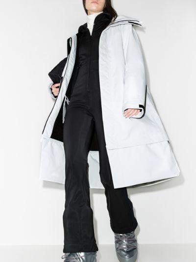 White Pro Wadded Anton Longline ski coat