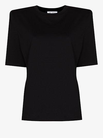 padded shoulder cotton T-shirt