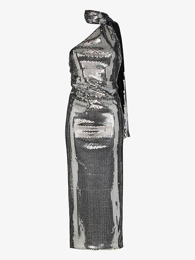 sequin halterneck dress