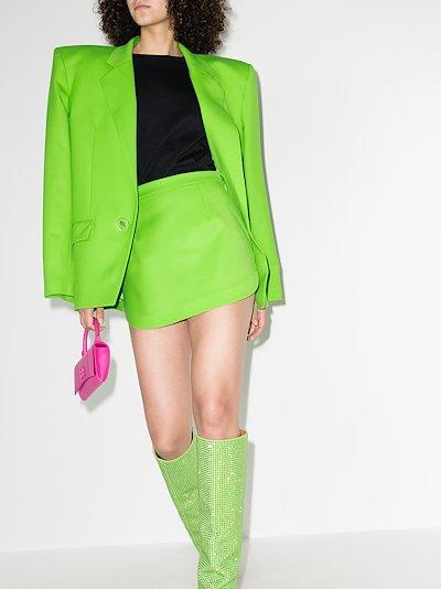 wool mini skirt