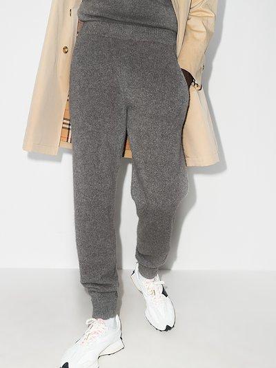 cashmere track pants