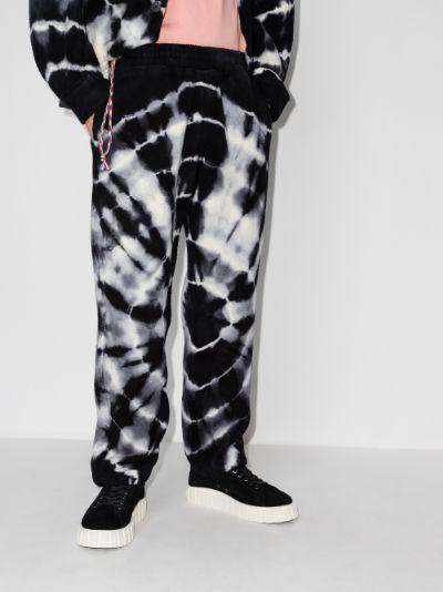 Cloud tie-dye trousers