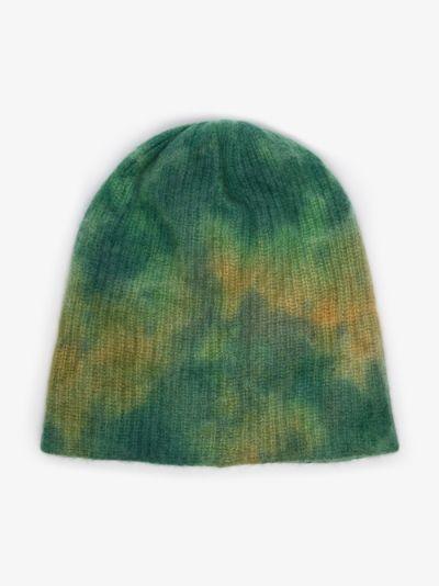 Green Watchman Tie-Dye Cashmere Beanie Hat