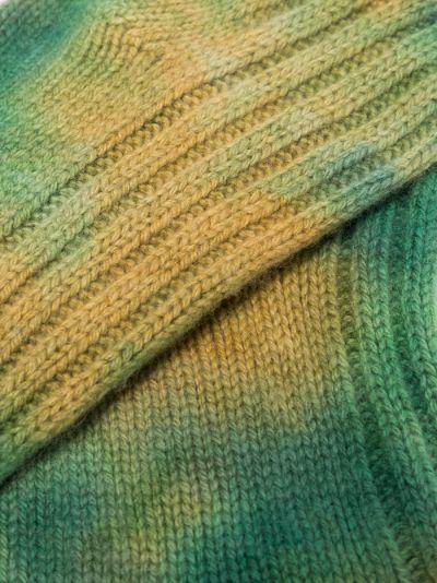 Green Yosemite Tie-Dye Cashmere Socks