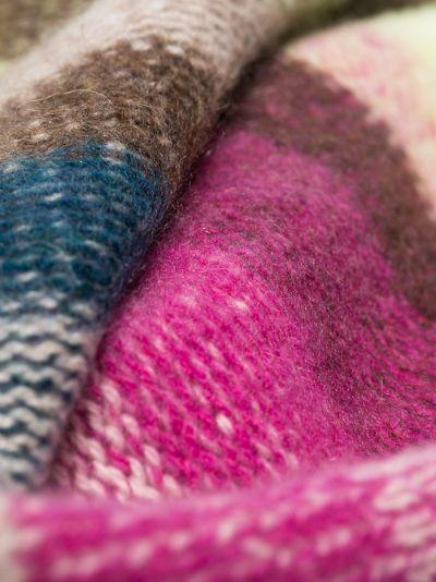 multicolour Stripe cashmere blanket
