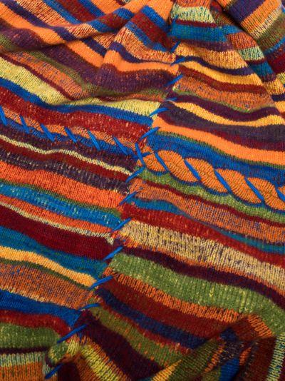 multicoloured Four-Panel cashmere blanket