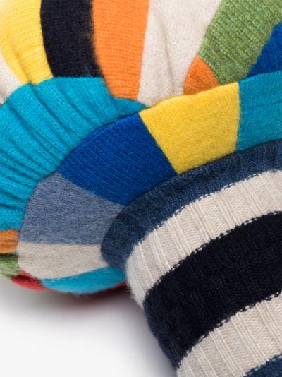 multicoloured small mushroom cashmere cushion