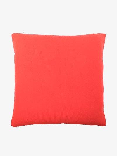 multicoloured square cashmere cushion