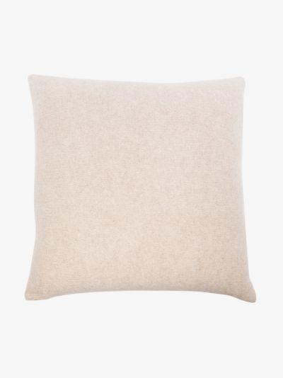 multicoloured squares patchwork cushion