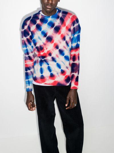 Radiate tie-dye cashmere sweater