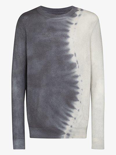 Snake tie-dye cashmere sweater