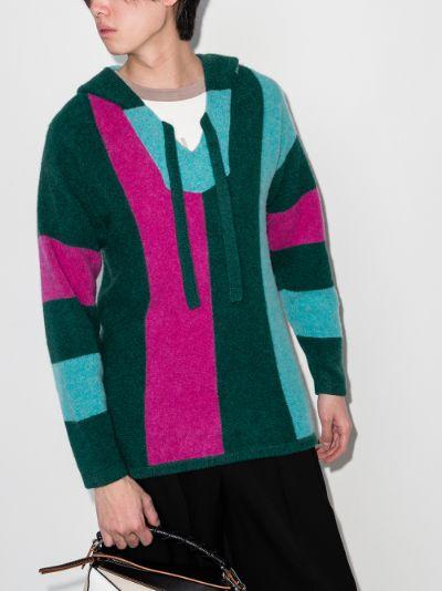 striped cashmere hoodie