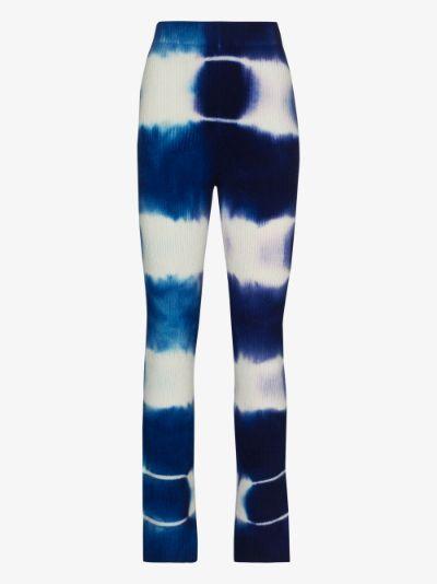 Triptych tie-dye cashmere trousers