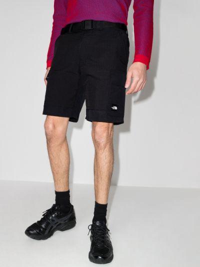 black Black Box Utility Shorts