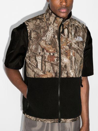 black Denali Printed Fleece Gilet