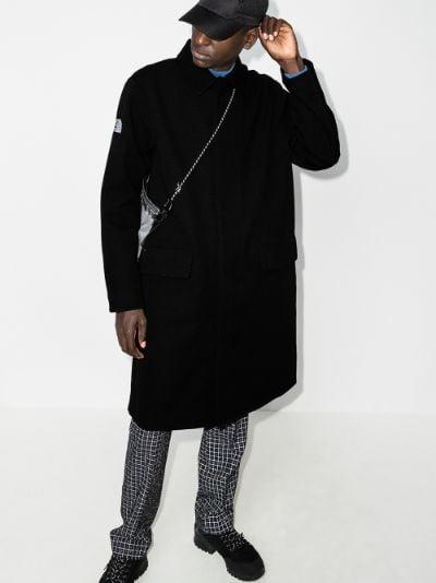Black Future Light ripstop logo coat