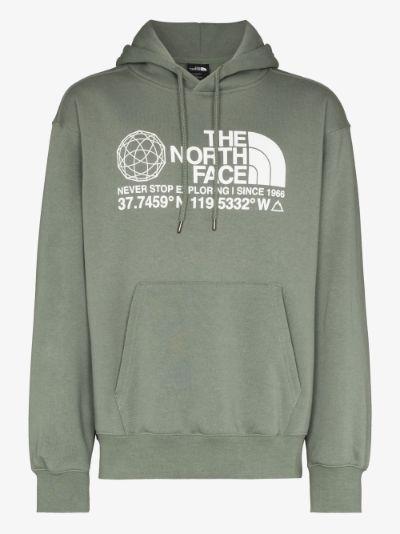 green Coordinates logo hoodie