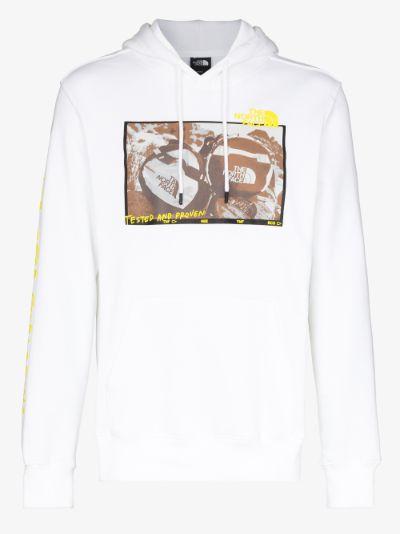 white Base Fall Print hoodie