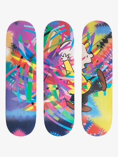 X AVAF multicoloured Peanuts skate deck set