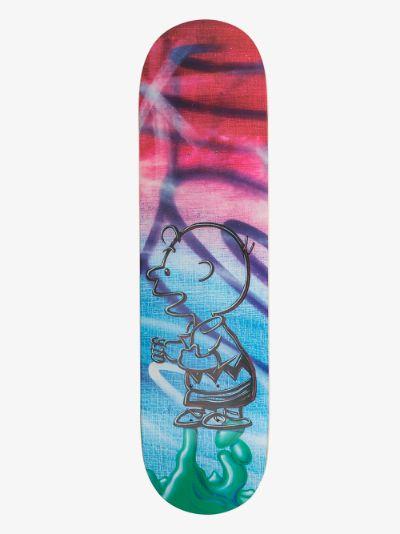 X Kenny Scharf multicoloured Peanuts skate deck