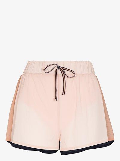 Efrem colour block running shorts