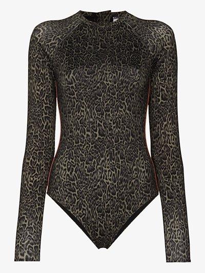 Maya leopard print paddle suit