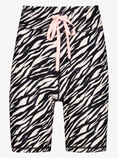 Zebra Spin printed shorts