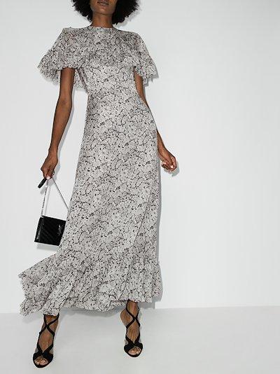 Bombette floral print silk dress