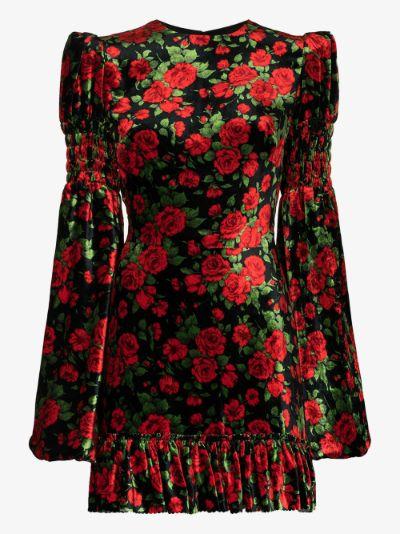 Carline Rose velvet mini dress
