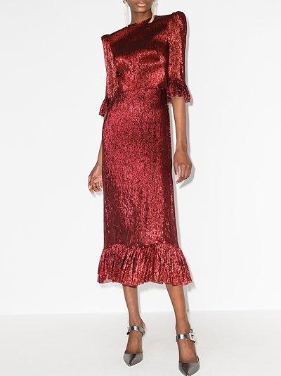 Falconetti frilled trim dress