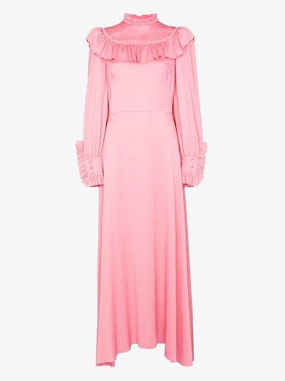 Firefly ruffled silk maxi dress