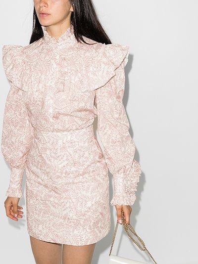 Frill Seeker ruffled printed blouse