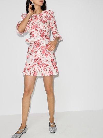 Gloria floral ruffled mini dress